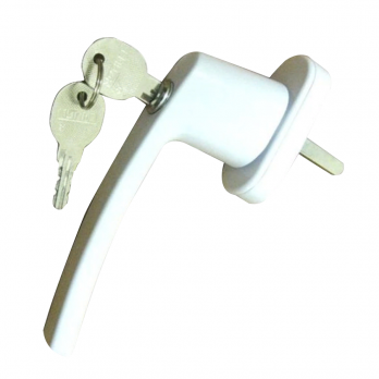 Ручка оконная металлическая с ключом белая, шт