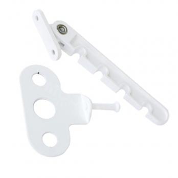 Ограничитель открывания (гребенка) белая металлическая, шт