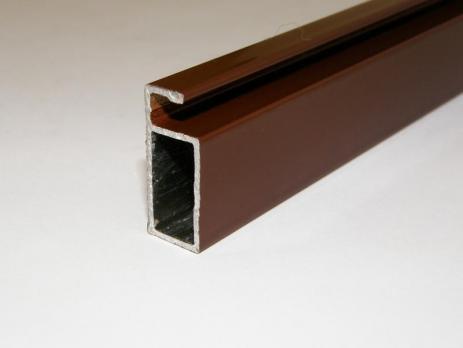Профиль рамный 25 мм для москитной сетки (6 м) коричневый, м.пог.