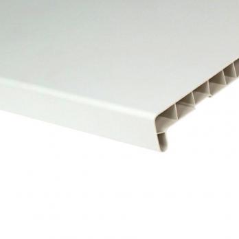 Подоконник в распил пластиковый белый (Витраж), цена за м.кв.